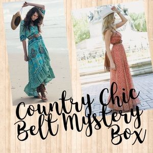 Belt S Mystery Box Leather Boho Country Chic